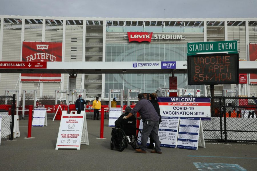 A new vaccination site at Levi Stadium