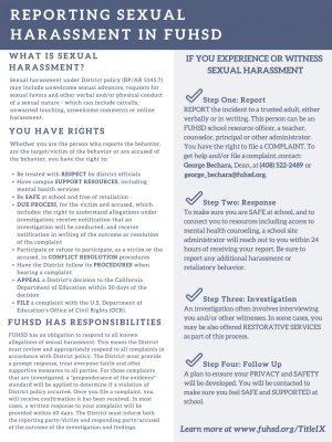 FUHSD student activism leads to reform regarding sexual harassment curriculum