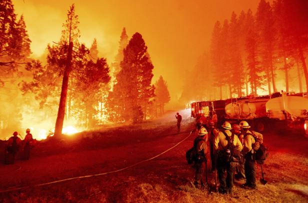 Wildfires near Lake Tahoe
